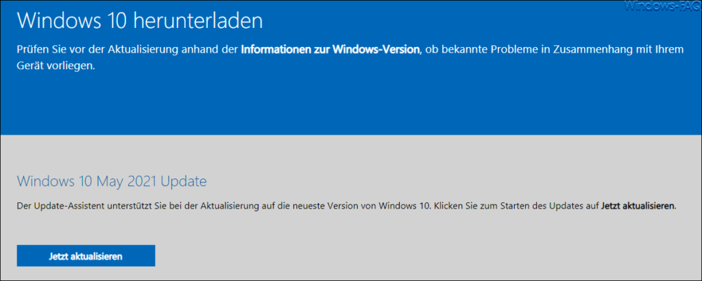 Download Windows 10 May 2021 Update 21H1