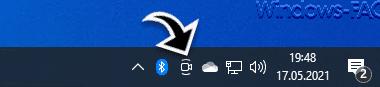 """""""Jetzt besprechen"""" Symbol in der Windows Taskleiste einblenden oder ausblenden"""