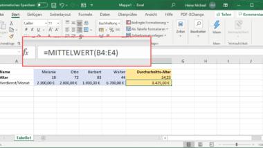 Excel Durchschnitt berechnen