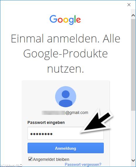 Passwort GMail Konto