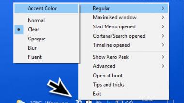 Transparente Taskleiste Windows 10
