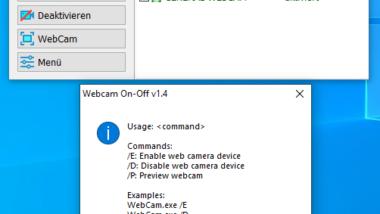 Webcam schnell deaktivieren oder aktivieren