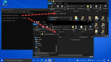 Windows Explorer aus der Eingabeaufforderung starten