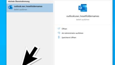 Outlook Ordner in Englisch anstatt in Deutsch