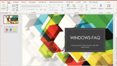 Powerpoint zu PDF Datei umwandeln