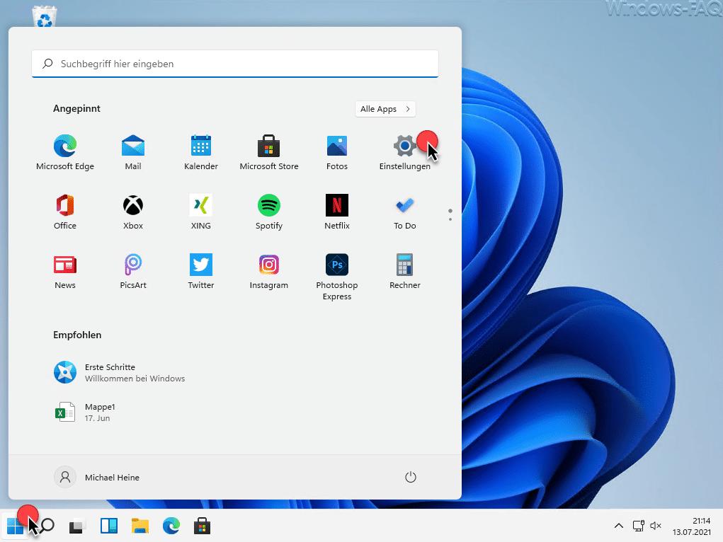 Windows 11 Einstellungen
