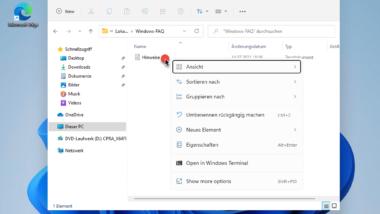 Windows 11 Explorer – neues Design und veränderte Bedienung
