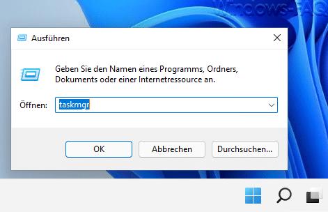 taskmgr Windows 11