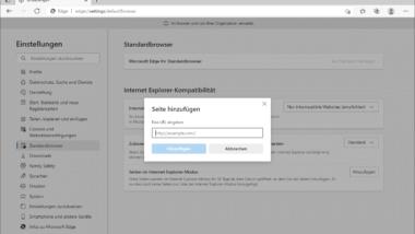 Webseiten werden im Edge nicht korrekt dargestellt – IE kompatibler Modus