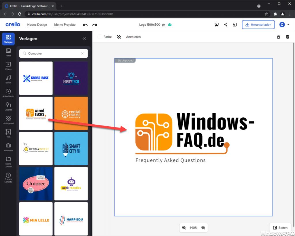 Crello Logo Windows-FAQ.de