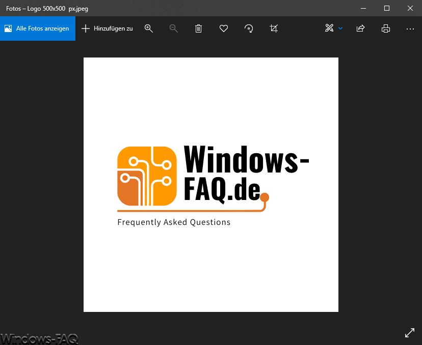 Logo 500x500 Windows-FAQ.de